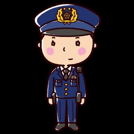 警察官のイラスト(男性)(2カット)