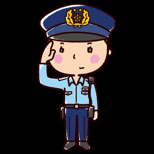 警察官のイラスト(男性・夏服)(2カット)