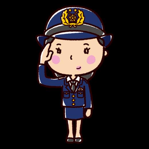 警察官のイラスト(女性)(2カット)
