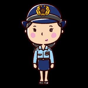 警察官のイラスト(女性・夏服)