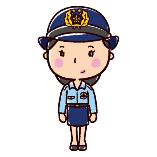 警察官のイラスト(女性・夏服)(2カット)
