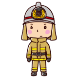 消防士のイラスト(防火服)