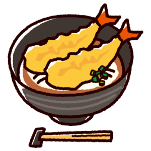 天ぷらうどんのイラスト