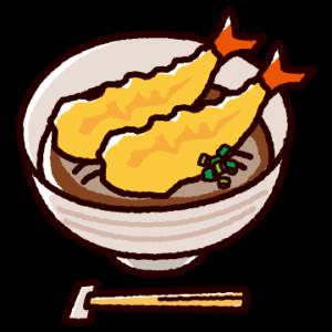 天ぷらそばのイラスト