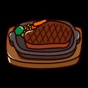 ステーキのかわいいイラスト