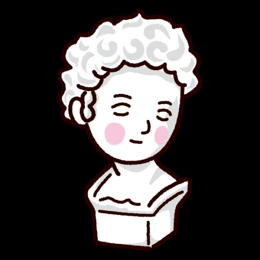 石膏像のイラスト(ジュリアーノ・メジチ胸像)