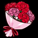 母の日のイラスト(カーネーションの花束)