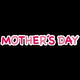 文字のイラスト(母の日)