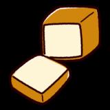 食パンのかわいいイラスト