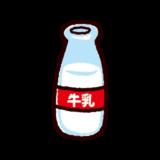 牛乳のイラスト(瓶)