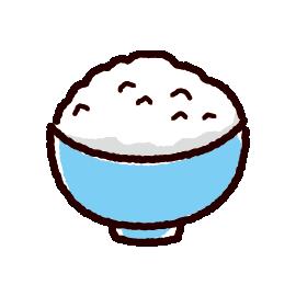 ごはんのかわいいイラスト白ご飯 イラストくん