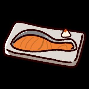 焼鮭のイラスト