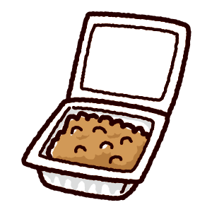 納豆のイラスト(パック)
