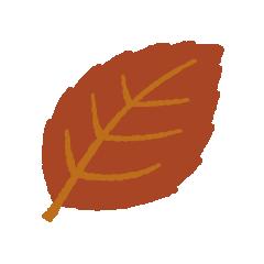 葉っぱのイラスト(キザギザ)(4カット)