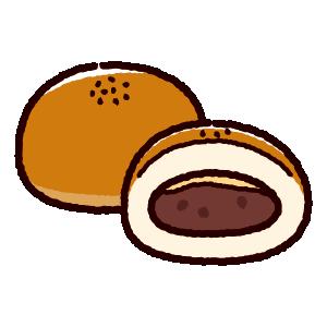 パンのイラスト(あんぱん)