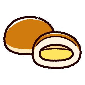 パンのイラスト(クリームパン)