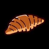 パンのイラスト(クロワッサン)