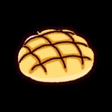 パンのイラスト(メロンパン)