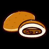 パンのイラスト(カレーパン)