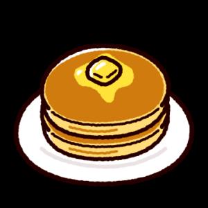 ホットケーキのイラスト(パンケーキ)