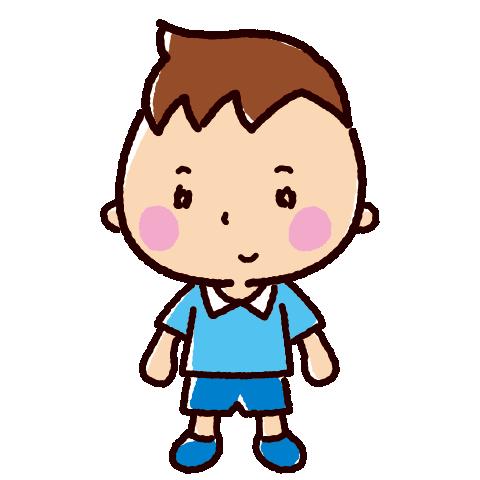 子供のイラスト(男の子)(4カット)