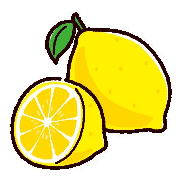 レモンのイラストいろいろ(4カット)