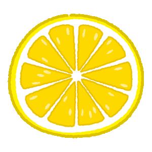 レモンのイラスト(輪切り)(2カット)