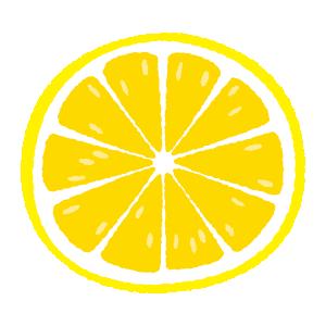 レモンのイラスト(輪切り)