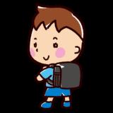 ランドセルを背負った子供のイラスト(小学生・男の子)