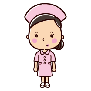 看護師のイラスト(ナース・看護婦・ワンピース)