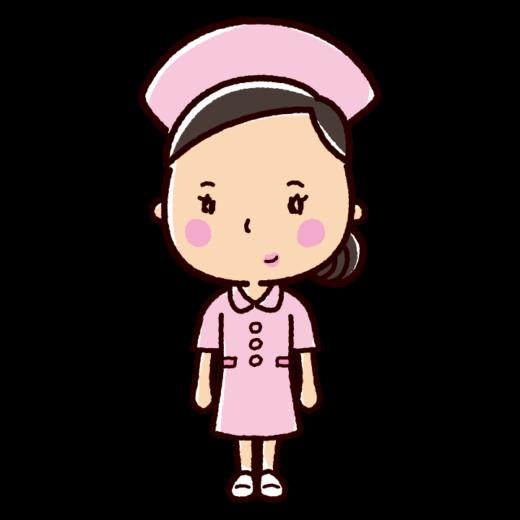 看護師のイラスト(ナース・看護婦・ワンピース)(2カラー)