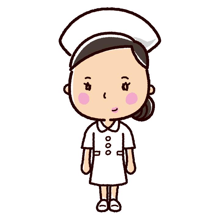 看護師のイラストナース看護婦ワンピース2カラー イラストくん