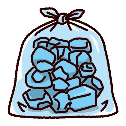 ゴミ袋のイラスト(透明)(3カット)