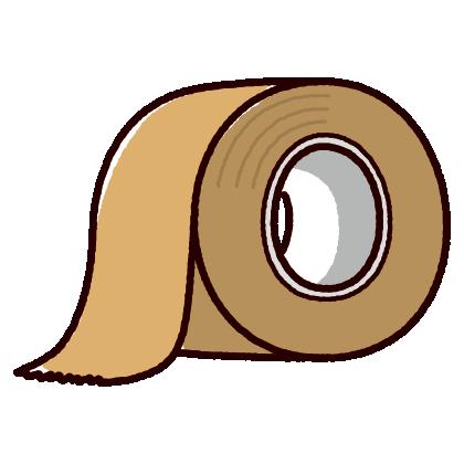 ガムテープのイラスト(2カット)