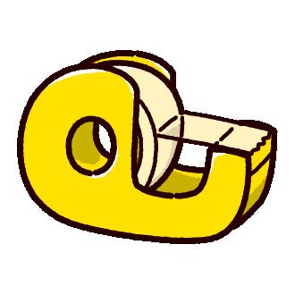 セロテープのイラスト(2カラー)