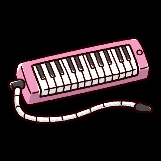 鍵盤ハーモニカのイラスト(卓奏・ピアニカ)(3カラー)