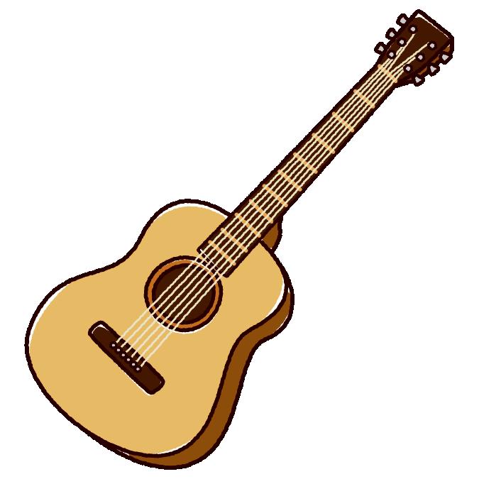 アコースティックギターのイラスト2カラー イラストくん