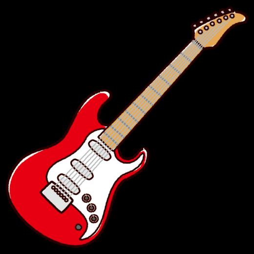 エレキギターのイラスト(3カラー)