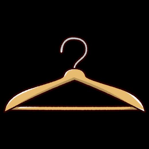 ハンガーのイラスト(木製)(2カラー)
