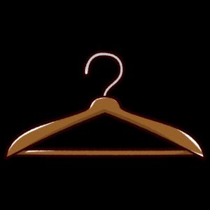 ハンガーのイラスト(木製)