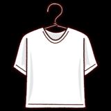 洗濯物のイラスト(シャツ)