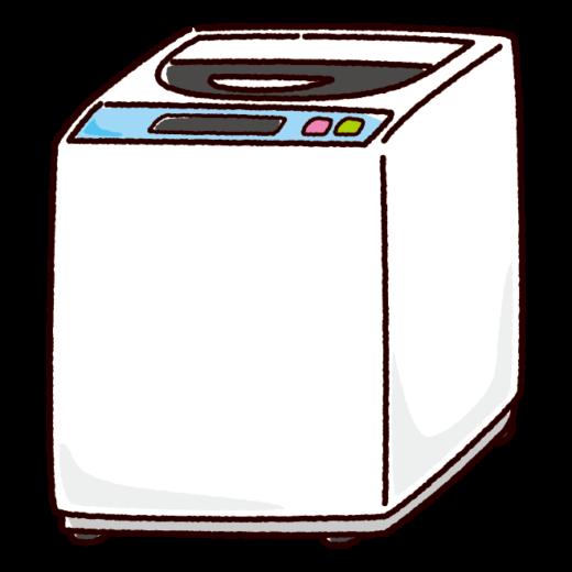 洗濯機のイラスト(縦型・家電)