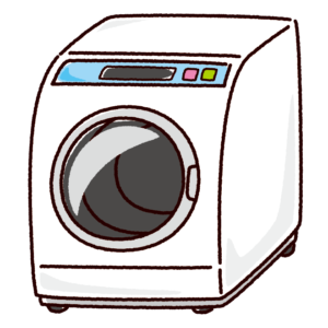 洗濯機のイラスト(ドラム式)