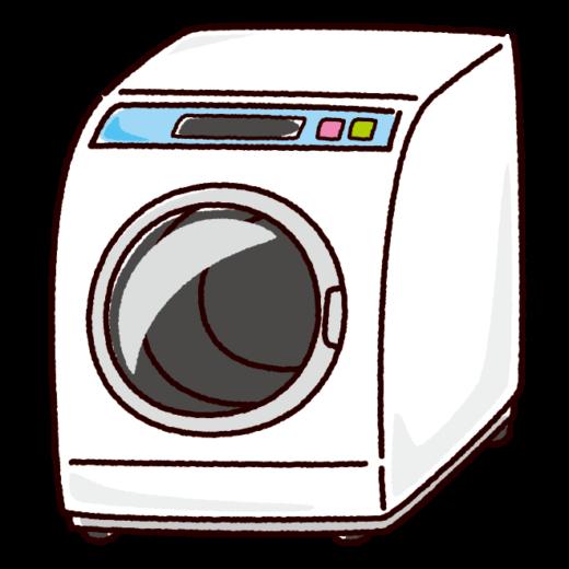 洗濯機のイラスト(ドラム式・家電)