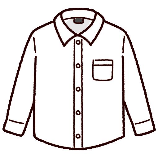 ワイシャツのイラスト(4カラー)