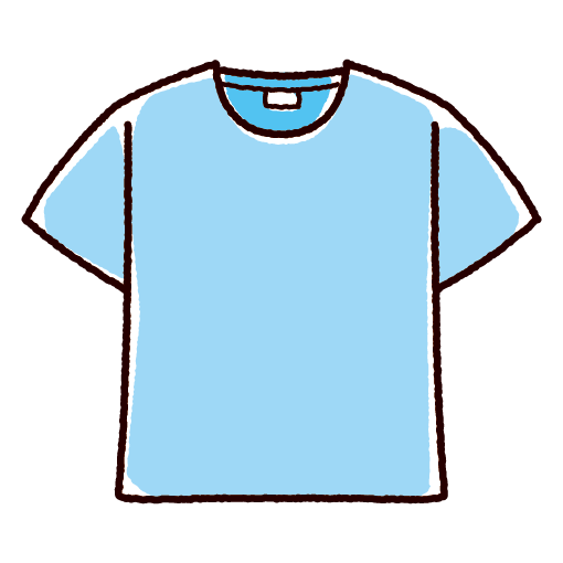 Tシャツのイラスト(4カラー)