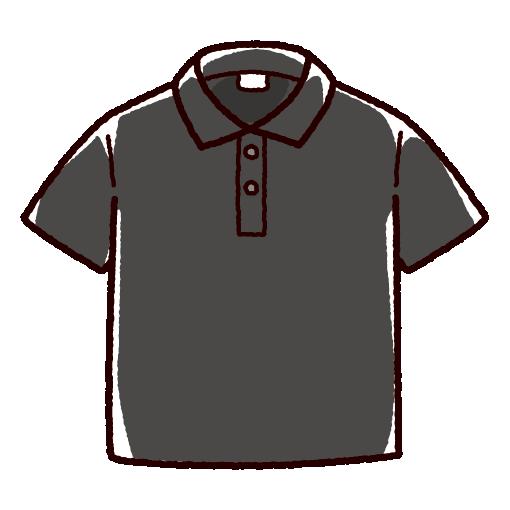 ポロシャツのイラスト(4カラー)