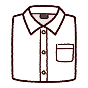 たたんだワイシャツのイラスト