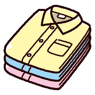 たたんだワイシャツのイラスト(2カット)