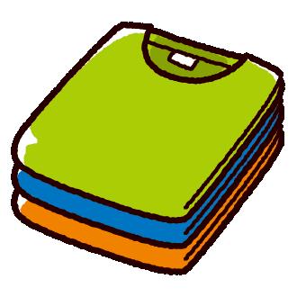 たたんだTシャツのイラスト(2カット)